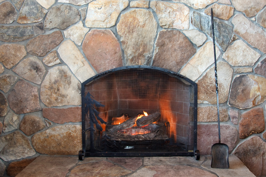 The stones in this wall absorb energy from the fire and will continue to provide radiant heat long after the fire has been banked.