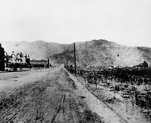 This picture of Olive Avenue shows what Burbank was like in 1889.  Although I was not in Burbank then, 28 years is still a long time.