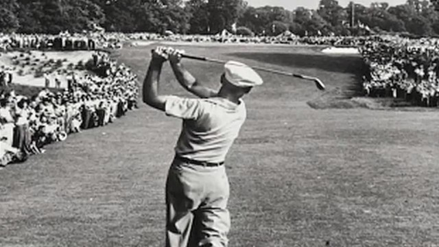 Look at the rotation that Hogan achieves in this famous photograph of his famous one iron shot from the fairway on the 18th hole at US Open at Merion in 1950.  What makes this all the more remarkable was that this was after his near fatal car accident a year earlier.