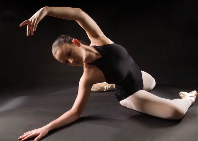 The graceful movements of a ballerina beautifully demonstrate the spine's ability to flex laterally.