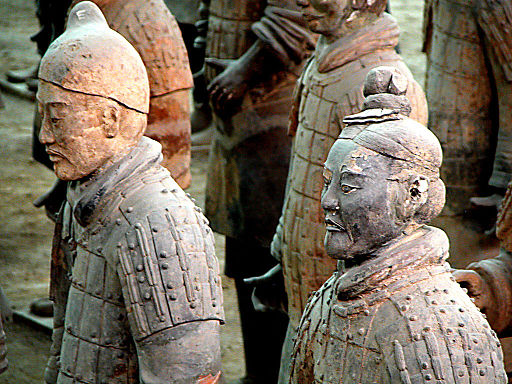 Sickle cell anemia is so rare in China that you would have virtually the same chance of finding sickle cell anemia in these terra cotta soldiers as in a live Chinese person. By Peter Morgan from Nomadic (Detail, Terracotta Warriors) [CC BY 2.0 (http://creativecommons.org/licenses/by/2.0)], via Wikimedia Commons